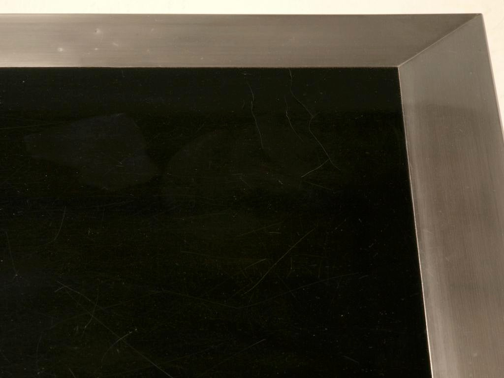 60s Black Lacquered U0026 Brushed Metal French Coffee Table   Image 8 Of 11