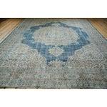 "Image of Distressed Oushak Carpet - 8'7"" x 11'2"""