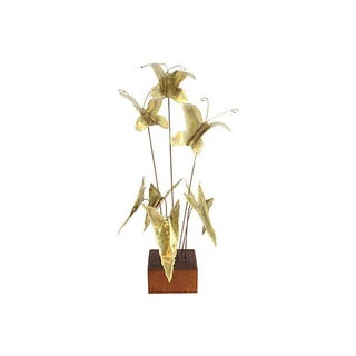 Mid-Century Gilded Butterfly Kinetic Sculpture
