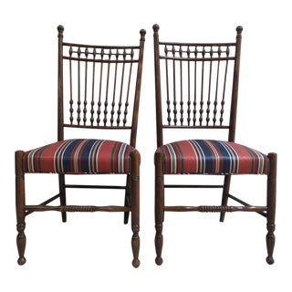 Vintage Stick and Ball Dining Room Chairs - A Pair