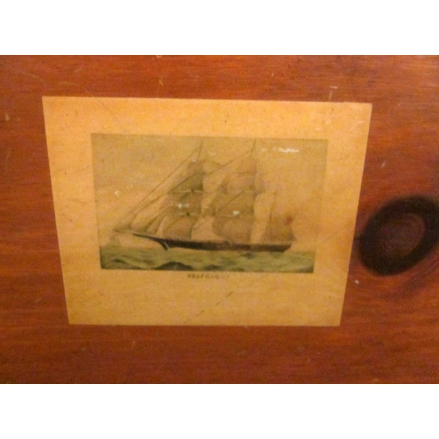 Primitive Cape Cod Captain Sea Chest Crate - Image 4 of 7