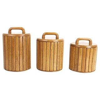 1970s Modernist Kitchen Canisters - Set of 3