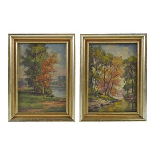 Plein Air Landscapes - Pair