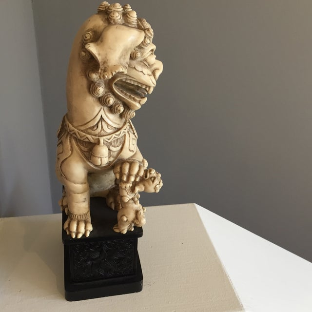 Carved Chinoiserie Foo Dog - Image 5 of 5