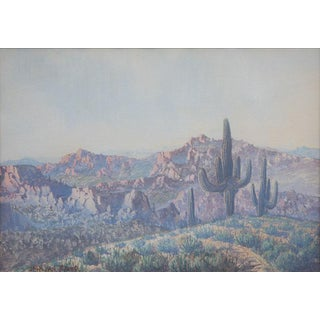 Jack van Ryder (1898-1968) - Saguaro Landscape