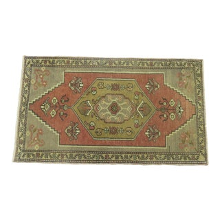 Vintage Turkish Rug Mat- 1'9'' x 3'