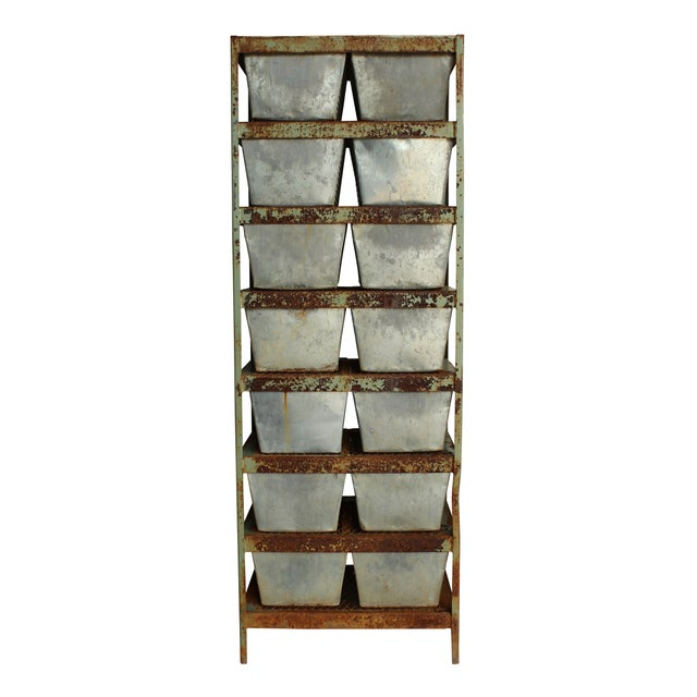 Image of Vintage Locker Basket Unit