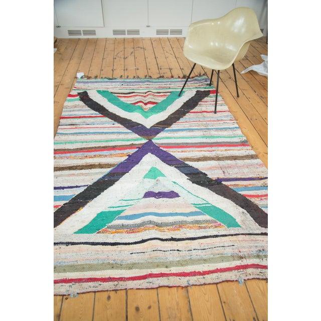 "Rag Rug Prices: Vintage Rag Rug Carpet - 5'1"" X 8'"
