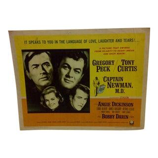 "1964 Vintage Movie Poster of ""Captain Newman M.D."""