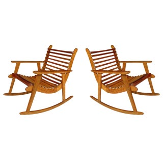 Michael Van Beuren Easy Rocking Chairs - A Pair