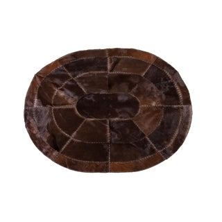 "Cowhide Patchwork Area Rug - 6'2"" x 4'8"""