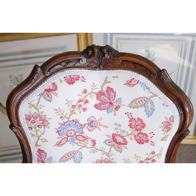18th Century French Provincial French Louis XV Fauteuil Arm Chairs - a Pair - Image 5 of 10