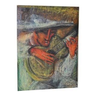 Carlos Lopez-Ruiz Colombian Cowboy Crooner Painting