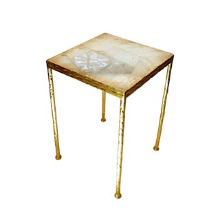 Rock Crystal Toby Side Table
