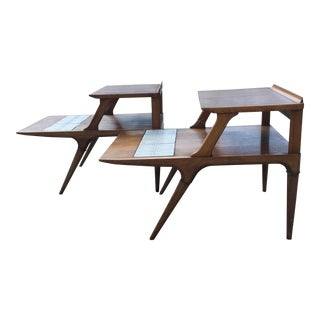 Mid-Century Modern Lane Side Tables - A Pair