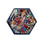 Image of Antjuan Oden Hexagon Assemblage Painting