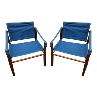 Campaign Safari Chairs From Retro 70's - A Pair
