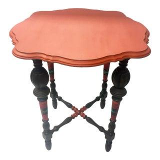 Orange Spice Accent Table