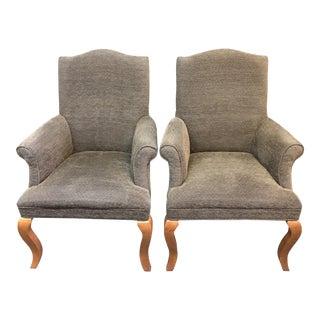 Crate & Barrel Neutral Arm Chairs- A Pair