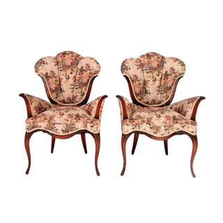 French Tulip Accent Chairs - A Pair