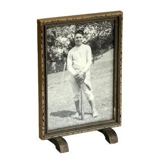 Framed Portrait of Baseball Player