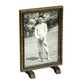 Framed Portrait of Baseball Player