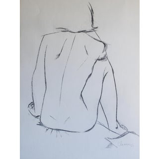 1979 Adele Chase Female Study Drawing
