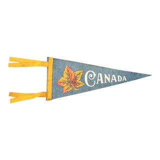 Vintage 1960s Canada Pennant Flag