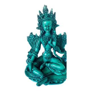 Green Tara Lotus Pose Figurine