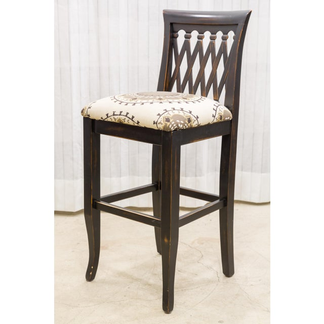 Emerson Lattice Back Counter Stool - Image 2 of 4