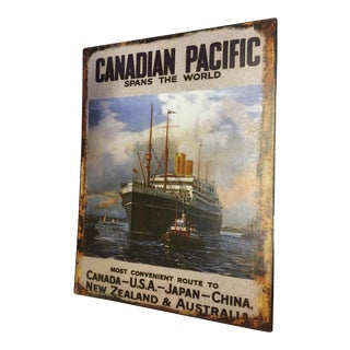 Canadian Pacific Tin Advertising Sign