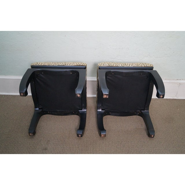 Ebonized Asian Influenced Ottoman/Benches - A Pair - Image 4 of 10
