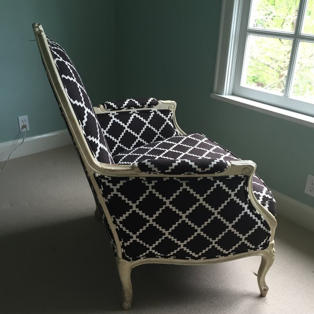 Vintage Bergere Chair in Lulu DK's Chant Fabric - Image 3 of 10