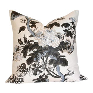 Pyne Hollyhock Charcoal Pillow Covers