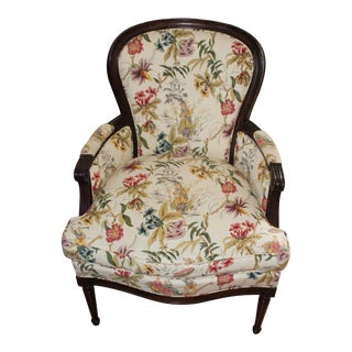 Hickory Chair Designed by Mark Hampton Louis XV Bergere Chair