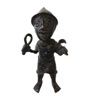 Benin Bronze Oba King Soldier Nigeria African