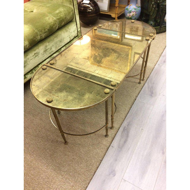 Vintage Oblong Gilded Coffee Table - Image 2 of 9