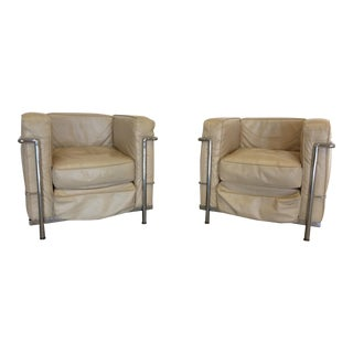 Le Corbusier Style Armchairs- A Pair
