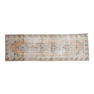 "Vintage Distressed Oushak Rug Runner - 2'9"" x 8'6"""