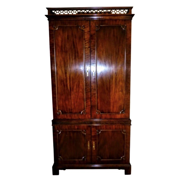 Vintage Century Cherry Wood Bar Armoire Cabinet - Image 1 of 11