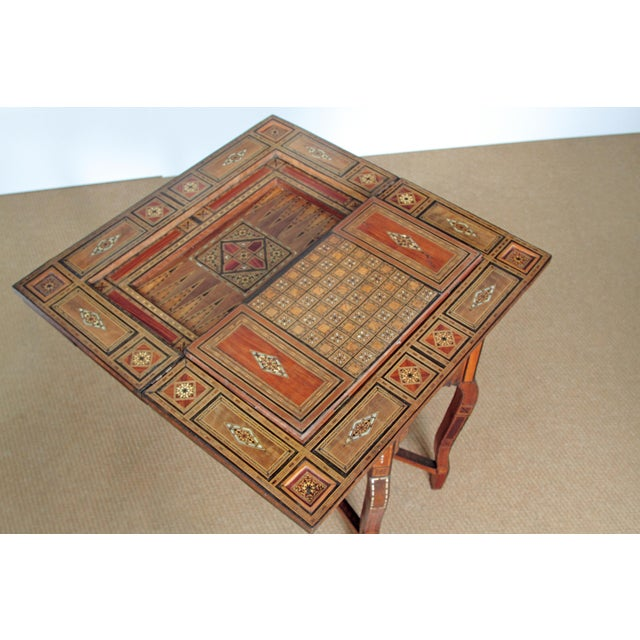 ANTIQUE SYRIAN FOLDING GAMES TABLE - Image 5 of 6