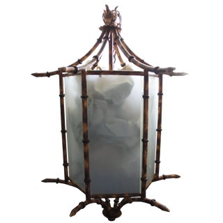 Pagoda Bamboo Light Fixture