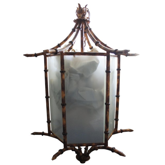 Image of Pagoda Bamboo Light Fixture