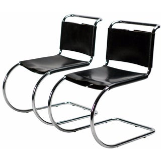 Mies van der Rohe for Knoll MR 10 Chairs - A Pair