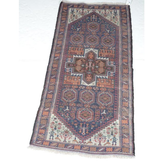 Hand Knotted Persian Baluch Rug - 3′3″ × 6′10″ - Image 9 of 9