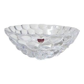 Orrefors Crystal Raspberry Bubble Bowl