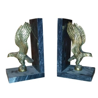 Classic Americana Brass Eagle Bookends - Pair