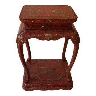 Chinese Laquer Drink Table