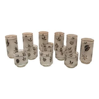 Libbey's Silver Leaf Glasses- Set of 6