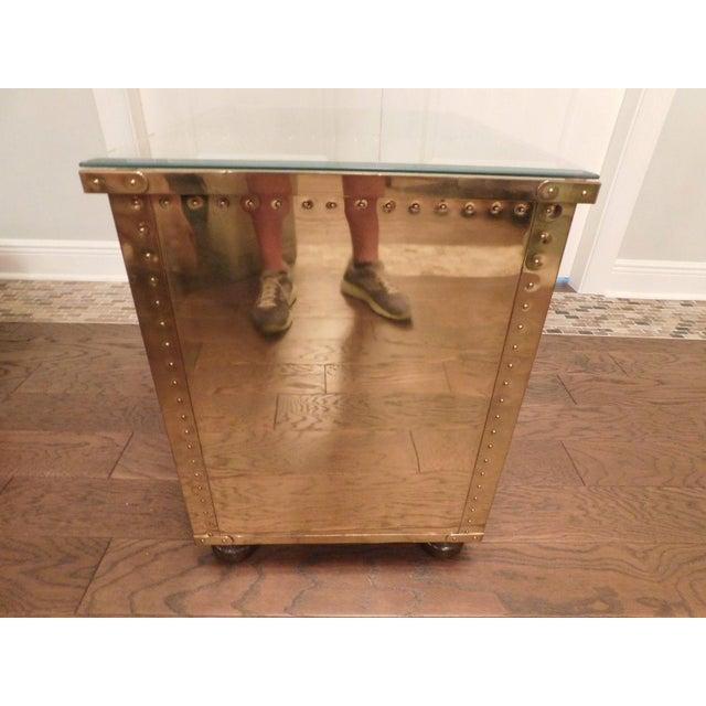 Serreid LTD Vintage Brass Nightstand - Image 3 of 11